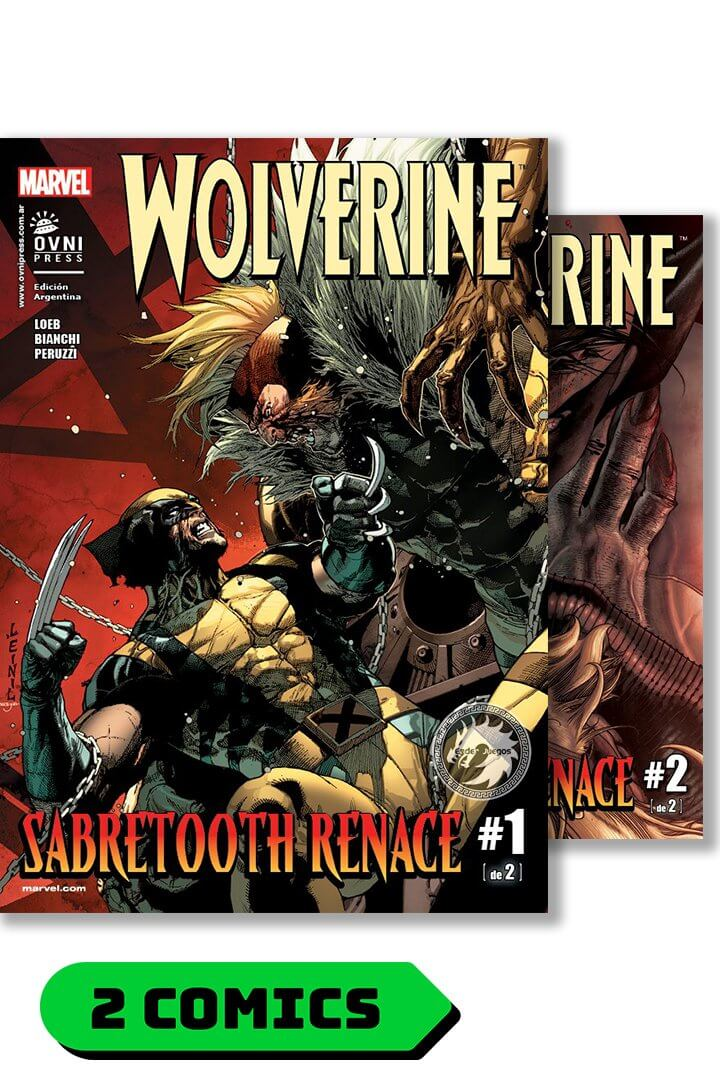 Wolverine #14 y 15 - saga: Sabretooth Renace (completa) - Ovni Press