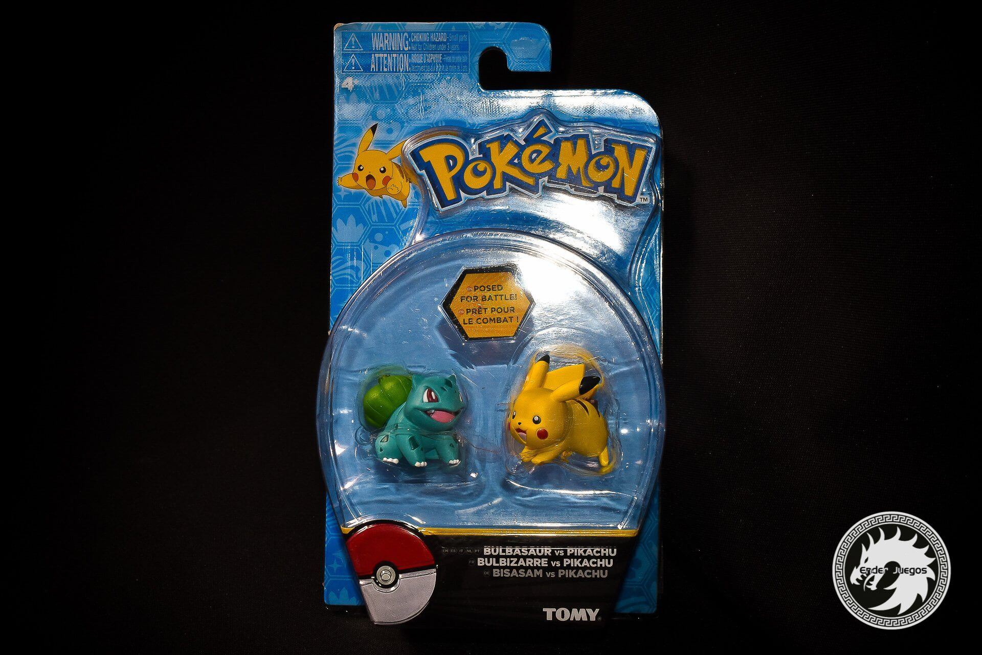Pokemon Action Pose (2 figuras) - Bulbasaur vs Pikachu - Tomy