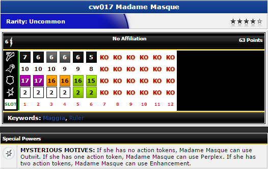 Heroclix - Madame Masque