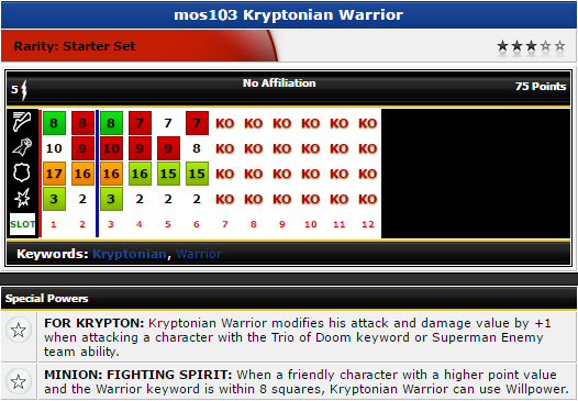Heroclix - Kryptonian Warrior