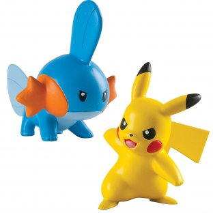 Pokemon Action Pose (2 figuras) - Mudkip vs Pikachu - Tomy