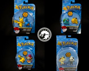Pokemon Action Pose (2 figuras) - Tomy