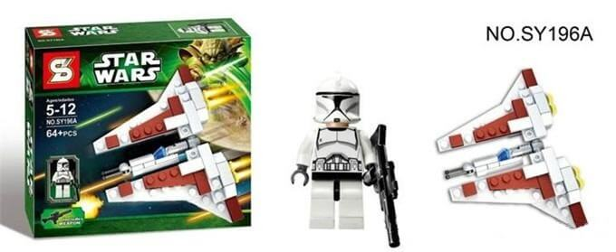 SZ Star Wars - Clonewars Nave y Clone Trooper