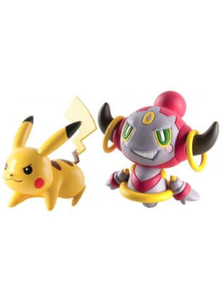 Pokemon Action Pose (2 figuras) - Hoopa Contenido vs Pikachu - Tomy