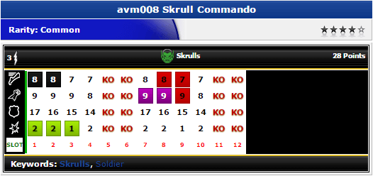 Skrull Commando. - avm008 - Marvel Avengers Movie - HeroClix