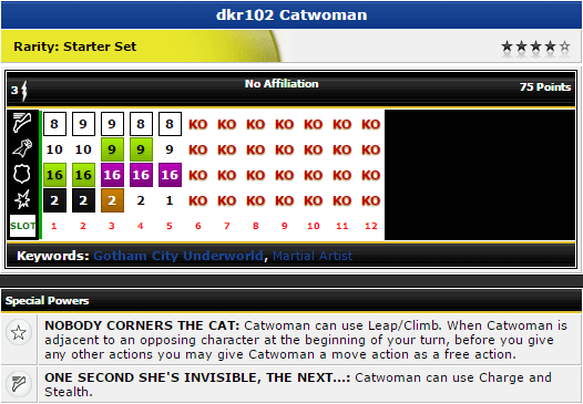 Catwoman - dkr102 - DC The Dark Knight Rises - HeroClix