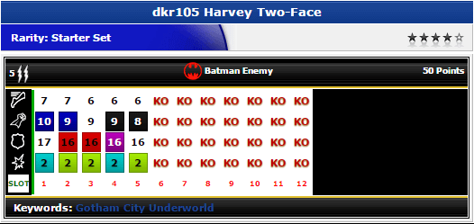 Harvey Two-Face - dkr105 - DC The Dark Knight Rises - HeroClix