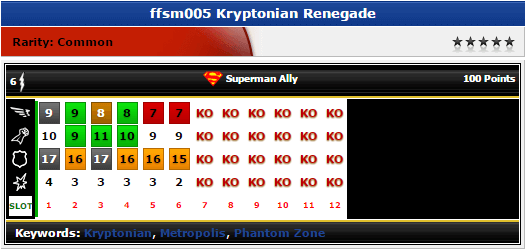 Kryptonian Renegade - ffsm005 - DC Fast Forces Superman - HeroClix
