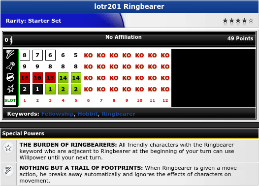 Ringbearer - lotr201 - Lord of the Rings - HeroClix